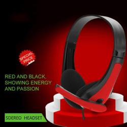 3,5 mm trådbunden stereobas över hörlurar med hörlurar med mikrofon för Black