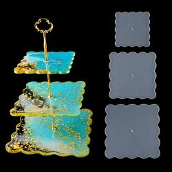 3-lags fack silikonform DIY Epoxihartsunderlägg Epoxi mögel T N1