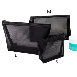3st Kosmetisk väska Resemode Svart toalettartiklar Makeup Organiser