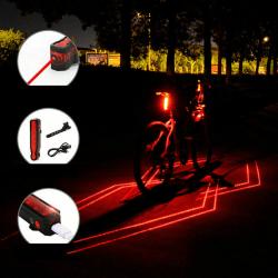 5 LED-lasercykel Bakljus Night Cycling Signal Varna bakre lampa