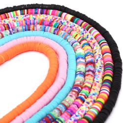 6mm platta runda polymerlerpärlor lösa spacerpärlor DIY Jewelr Multicolor 3