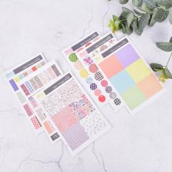6ark Dekoration Vintage Floral Paper Sticker DIY Scrapbookin