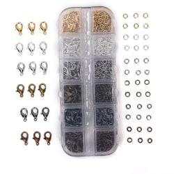 960PCS smycken gör hummerlås krokar Jump Ring för Necklac Multicolor