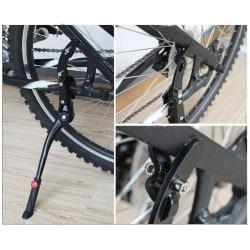 Justerbar MTB Road Bicycle Kickstand Parking Rack Support Side Black