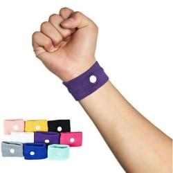 Mot illamående morgonsjuka rörelse resesjuka handledsbandbil Pink 5cm