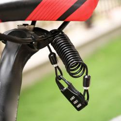 Cykelhjälmlås Bärbart ståltrådscykling Lösenordslås 5