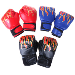 Boxhandskar Barn Junior Ungdom Sparring Training Kick Boxi Black one size