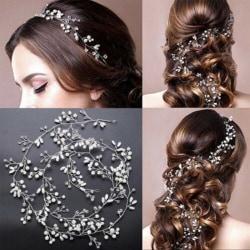 Brudhår tillbehör hårstycken tiara lady bröllop huvudbonad Silver one size