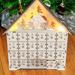 Jul DIY Tränedräkningskalender med LED-lampa O one size