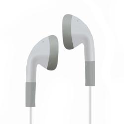 Klassiska in-ear hörlurar 3,5 mm bas stereo musik hörlurar Hea White