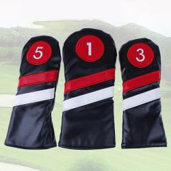 Golfhuvudskydd # 1 # 3 # 5 Headcovers Driver / Fairway Rescue / A