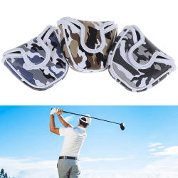 Golf Mallet Putter Cover Headcover Camouflage Pattern Head Prot Blue