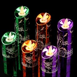 Halloween Candle Flickering Flameless Skull Halloween Party Dec.