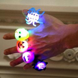 Halloween-festfingerlampa Ljusleksaker Barnpresenter Pu Skeletons