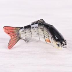 Flersektions fiskebete vev bete Swimbait Bass Shad Dace 1