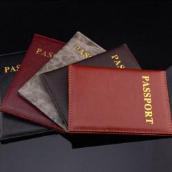 Nytt passhållarskydd Plånbok PU läderöverdrag Black