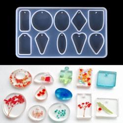 Hängande silikon harts mögel för DIY smycken gör verktyg mögel H White