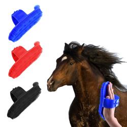 Plast curry kam justerbar rem häst ponny vård grooming sc