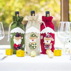 Santa Claus Wine Bottle Bag Christmas Snowman Xmas Dinner Table Red