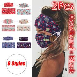 Stretch Hairband Bandana Headwear Button Turban Accessories Sof