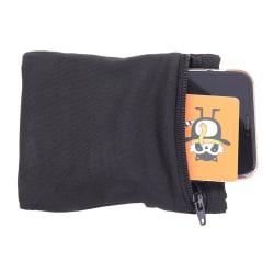 Travel Black Wrist Wallet Pouch Portable Pocket Key Zipper Spor