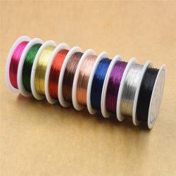 Användbar 0,3 mm koppartråd Beading Wire smycken gör sladdstrin Black