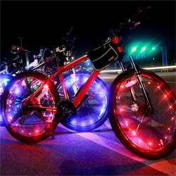 Vattentät färgglada 20 LED-cykellampor Cykellampa Cykling Whe Green 7.5*3cm