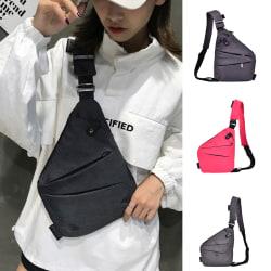 Vattentät Crossbody Personal Shoulder Pocket Bag Business Trav Gray Right