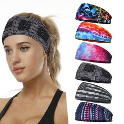 Wide Sport Sweat Sweatband Headband Yoga Gym Stretch Hair Band A