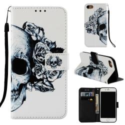 GadgetMe Plånboksfodral för Samsung Galaxy S9 - Flera Motiv Skalle