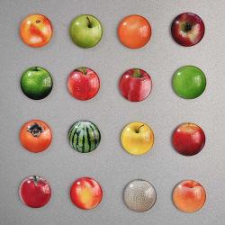 Kylskåpsmagnet - Frukter och bär - Glas - 5-pack multifärg