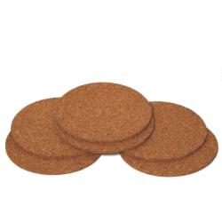 Dryckesunderlägg i kork - 9cm - 6-pack Brun