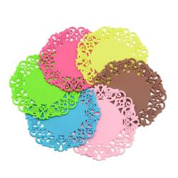 Dryckesunderlägg i silikon - 6-pack Rosenröd - Coaster Rosenröd