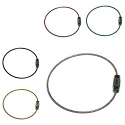 Nyckelring i ståltråd - 50mm diameter -2mm tjocklek Silver Silver
