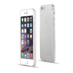 iPhone SE (2020) |Mjukt, Genomskinligt Skal med Strassbumper! Transparent