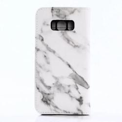 Plånboksfodral Marmor - Samsung Galaxy S8 + Vit