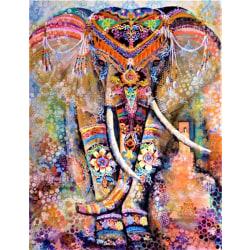 Diamond painting, diamantmålning- elefant 30x40 cm