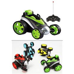Stunt bil m kontrol, roterar 360 grader Grön