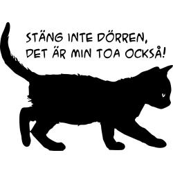väggord/väggdekor katt svart