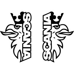 Bil dekor - scania örn svart  2 pack