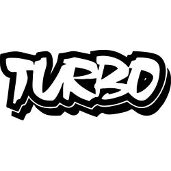 Väggdekor/bil dekal turbo