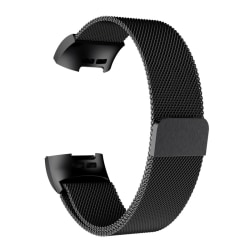 Fitbit armband Milanese loop Fitbit Charge 3/4 armband Black