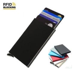 RFID Blocking Pop-up Korthållare - Svart Svart
