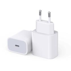 iPhone laddare för Apple 11/12 USB-C strömadapter 20W PD Vit Vit