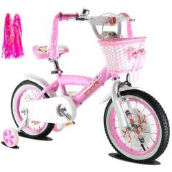 1 par Barncykelhandtag Tofs Trehjuling Cykel Rosa Flicka Färg