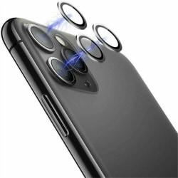 För Apple 12 Pro Max Camera Lens Metal Tempered Glass Protector Svart För iPhone 12 5.4 / 2 ringar