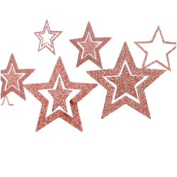 Ihåliga Pappersstjärnor Hängande tak Bröllopsfest Heminredning Rosguld