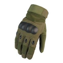 Militär Jakt Skytte Taktik Hårda Gemensamma Full Finger Handskar Armégrön XL
