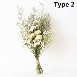 Naturliga Torkade Blommor Gypsophila bukett Diy Bröllop Typ 2