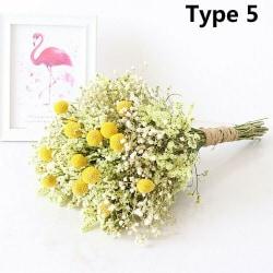 Naturliga Torkade Blommor Gypsophila bukett Diy Bröllop Typ 5